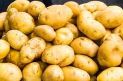 Display of white potatoes Stock Photo
