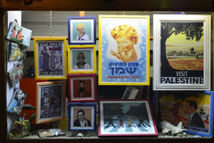 Display window of an old poster in Tel Aviv, Israel Royalty Free Stock Photography