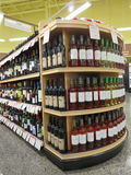 Display of wines Royalty Free Stock Photography