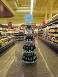 Display of wines Stock Images