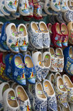 Display of wooden shoes Stock Photos