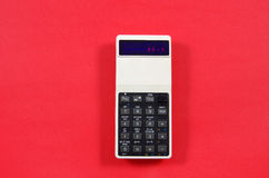 2017 displayed on a retro LED calculator Stock Photography