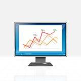 Displayer. Illustration of modern displayer design Royalty Free Stock Images
