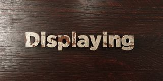 Displaying - grungy wooden headline on Maple  - 3D rendered royalty free stock image. This image can be used for an online website banner ad or a print Royalty Free Stock Image