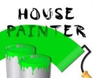 Displays Home Painting 3d för husmålare illustration Royaltyfri Illustrationer