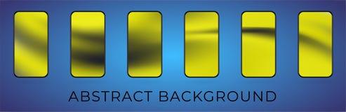 Vector wavy abstract smartphone illustration set vector illustration