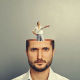 Displeased businessman with open head Royalty Free Stock Photos