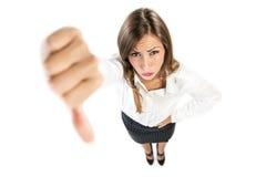 Displeased Businesswoman Stock Photography