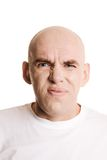 Displeased closeup Royalty Free Stock Photography