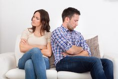 Displeased couple Stock Photography