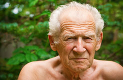 Displeased Frowning Senior Man Stock Photos