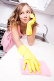 Displeased housewife Stock Photography