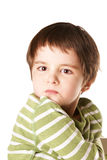 Displeased kid Stock Photography