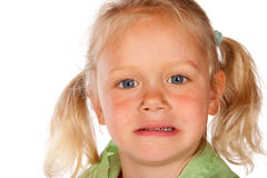 Displeased little girl Royalty Free Stock Photo