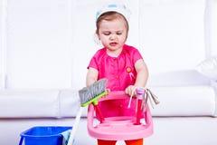 Displeased little girl Stock Photography