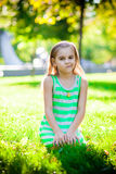 Displeased little girl Royalty Free Stock Photography