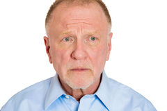 Displeased older man Royalty Free Stock Photography