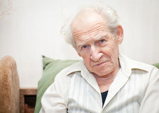 Displeased Senior Man Stock Image