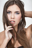 Displeased woman portrait Stock Photography