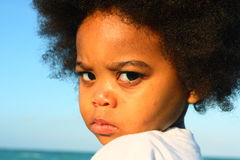 Displeased young boy Stock Photography