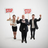 Displeasure people on the meeting Royalty Free Stock Images