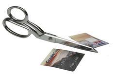 Dispoal de la tarjeta de crédito imagen de archivo libre de regalías