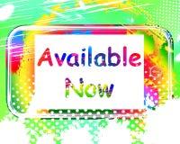 Disponível agora em mostras da tela em pedir conservado em estoque ou em linha Imagem de Stock