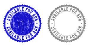 DISPONÍVEL Textured PARA selos do Grunge do ADS ilustração stock