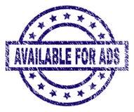 DISPONÍVEL Textured riscado PARA o selo do selo do ADS ilustração royalty free