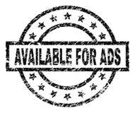 DISPONÍVEL Textured riscado PARA o selo do selo do ADS ilustração do vetor