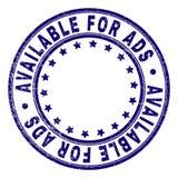 DISPONÍVEL Textured riscado PARA o selo do selo do círculo do ADS ilustração do vetor