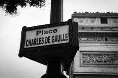 Disponga Charles de Gaulle Fotografia Stock Libera da Diritti