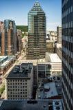 Disponga il punto di vista di Ville Marie dal 19° piano Immagine Stock Libera da Diritti