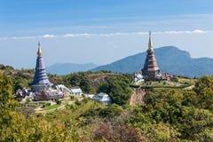 Disponga il viaggio di svago, parco nazionale di Doi Inthanon della Tailandia Fotografie Stock Libere da Diritti