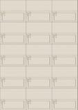 Disponga le schede rivestono con l'arco x 15 parti Immagine Stock