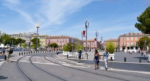 Disponga Massena in Nizza, Francia Fotografia Stock Libera da Diritti