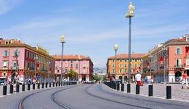 Disponga Massena in Nizza, Francia Immagini Stock Libere da Diritti