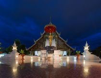 Disponga un vecchio Lanna buddista caro Grande del tempio di Wat Phra-singha Immagini Stock Libere da Diritti