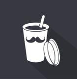 Disponibel kaffekopp gears symbolen Royaltyfri Illustrationer