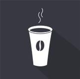 Disponibel kaffekopp gears symbolen vektor illustrationer