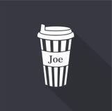 Disponibel kaffekopp gears symbolen stock illustrationer