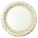 Disponibel pappers- platta över vit Arkivbilder