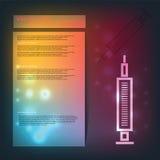 Disponibla injektionssprutor, vaccinering, injektionvisare Arkivbilder