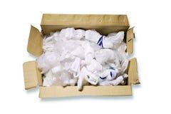 Disponibla plastpåsar i ask Royaltyfri Fotografi
