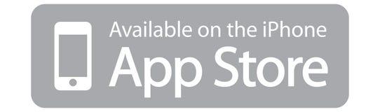 Disponible sur l'iphone d'App Store Apple illustration de vecteur
