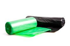 Disposable bags rolls Stock Images