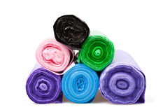 Disposable bags rolls Royalty Free Stock Image