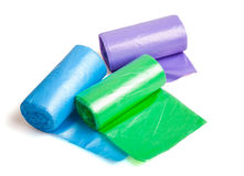 Disposable bags rolls Stock Photography