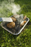 Disposable BBQ Royalty Free Stock Images