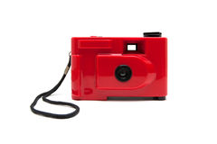 Disposable camera isolated on white Royalty Free Stock Image